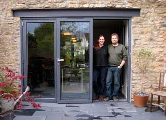 New Bifold Doors of Jane Davies & Alex Bethall - Frome, Somerset