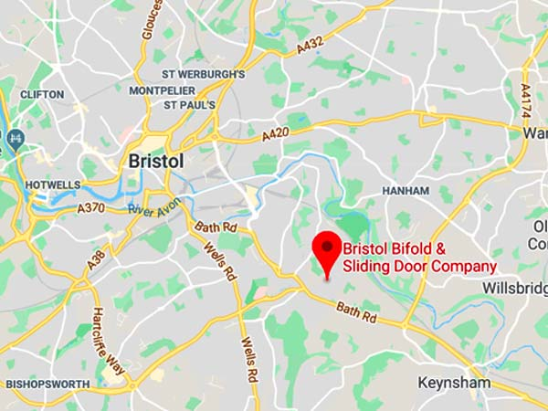 Bristol Bifold Showroom location on UK Map