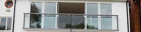 Glass Juliet Balconies & Related Products   REAL Aluminium Bifold Doors - Supply u0026 Install